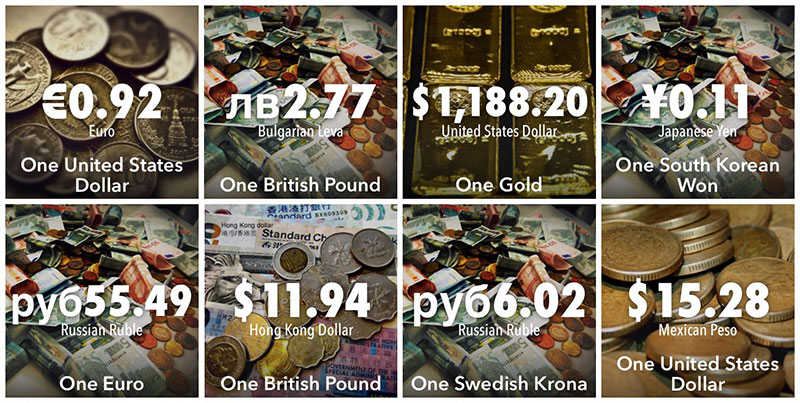 Numerous Currencies