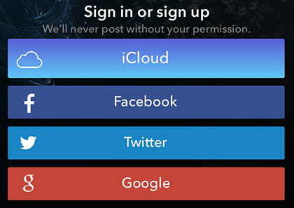 iCloud Sign-In